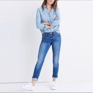 Madewell Slim Boyjean Walton Wash Jeans